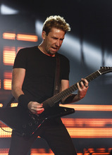 Leah Hogsten  |  The Salt Lake Tribune Nickelback performs at EnergySolutions Arena on Tuesday, June 12, 2012, in Salt Lake City, featuring Chad Kroeger on vocals and guitar, Ryan Peake on guitar and backing vocals, Mike Kroeger on bass and Daniel Adair on drums and backing vocals.