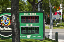 Chris Detrick  |  The Salt Lake Tribune Gas prices are displayed at Holiday and Shell gas station on 12600 South 1300 West in Riverton, Utah Wednesday June 13, 2012.