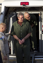 R. Allen Stanford enters the Bob Casey Federal Courthouse in Houston, where he was sentenced to 110 years in prison for bilking investors out of more than $7 billion over 20 years in one of the largest Ponzi schemes in U.S. history, Thursday, June 14, 2012. (AP Photo/Houston Chronicle, Johnny Hanson)