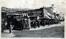 Tribune file photo  Women pose with Park City's first shipment of Fords in 1915.