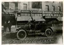 Tribune file photo  Salt Lake City's first motorized taxi is seen downtown in 1909.