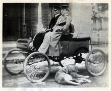 Tribune file photo  A couple is seen riding in the first Oldsmobile purchased in Utah. The car belonged to O.J. Stillwell of Ogden and was purchased in 1902.
