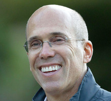 FILE - In this July 7, 2011, file photo, Jeffrey Katzenberg, CEO of DreamWorks Animation is seen in Sun Valley, Idaho. John Ramsey stands out in a new campaign finance world order filled with big names like Republican casino mogul Sheldon Adelson and Democratic Hollywood producer Jeffrey Katzenberg. The little-known senior at Stephen F. Austin University.is the founder of a team of college-aged Republicans that liberals have dubbed the