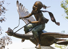 Leah Hogsten  |  The Salt Lake Tribune One of six bronze statues titled