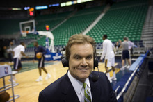 Kim Raff | The Salt Lake Tribune Jazz play-by-play announcer Craig Bolerjack at the Energy Solutions Arena in Salt Lake City on April 21, 2012.