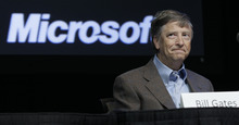 Microsoft Corp. Chairman Bill Gates listens during the company's annual shareholders meeting in November in Bellevue, Wash.  (AP file photo)