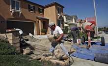 (AP Photo/Nick Ut) By region of the country, housing starts rose 14.4 percent in the West, but dropped in other parts of the country. The declines primarily reflected the weakness in apartment activity.