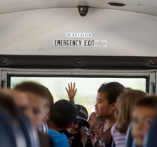 Trent Nelson  |  The Salt Lake Tribune Granite School District has installed video cameras on school buses, including this one that services students from Pleasant Green Elementary School Friday, June 15, 2012 in Magna, Utah.