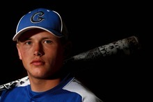 Trent Nelson  |  The Salt Lake Tribune Gunnison Valley's Rylan Anderson was dominant as a starting pitcher and a catcher for the 2A champion Bulldogs.