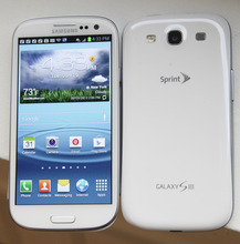 This June 19, 2012 photo shows the front and back of Samsung's new Galaxy S III phone, in New York. The Galaxy S III, which looks and feels like an oversized iPhone, is available next week. (AP Photo/Bebeto Matthews)