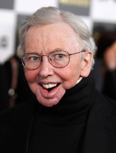 FILE - In this March 5, 2010 file photo, Roger Ebert arrives at the Independent Spirit Awards in Los Angeles. The Pulitzer Prize-winning critic, who lost his ability to speak and eat after cancer surgeries, said Friday, Sept. 10, 2010, that he will appear in a special segment on the television movie review show