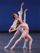Courtesy of Paul Kolnik Megan Fairchild and Andrew Veyette in George Balanchine's