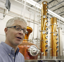 Tribune file photo David Perkins, owner of High West Distillery, talks about whiskey in this archive photo from 2008. Guests can get a behind-the-scenes look at the distillery's 250-gallon copper still and learn how whiskeys are made during free public tours offered every day at 3 and 4 p.m.