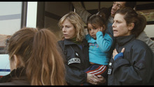 Karan Viard (center) and Marina Foïs (right) play Paris police on the Child Protection Unit, in the drama
