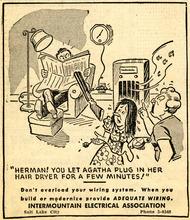 Intermountain Electrical Association ad. March 10, 1947