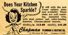 Chapman Plumbing and Heating ad. May 10, 1947