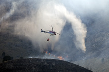 Kim Raff  |  The Salt Lake Tribune View of Dump Fire in Saratoga Springs-Eagle Mountain area in Saratoga Springs, Utah on June 22, 2012.