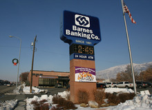Photo by Leah Hogsten  |  The Salt Lake Tribune Real estate loans that weren't repaid when the housing bubble burst were a key reason why Utah regulators seized the insolvent Barnes bank in January 2010.
