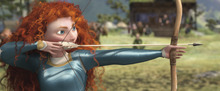 This film image released by Disney/Pixar shows the character Merida, voiced by Kelly Macdonald, in a scene from