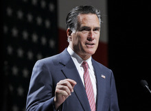 FILE - This June 21, 2012 file photo shows Republican presidential candidate, former Massachusetts Gov. Mitt Romney, speaking at the NALEO (National Association of Latino Elected and Appointed Officials) conference in Orlando, Fla. A federal court decision has created the possibility that some public television and radio stations that are perpetually challenged financially could see a windfall of cash from political advertising. Stations that get that chance would have to weigh whether the money is worth the risk of alienating their audiences. The Kantar Media Campaign Media Analysis Group estimates as much as $3.3 billion could be spent on such advertising this year, up from $2.1 billion in 2008. Stations that benefit most will be in presidential battleground states.   (AP Photo/Charles Dharapak, file)