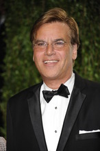 FILE - In this Feb. 27, 2012 file photo, Aaron Sorkin arrives at the Vanity Fair Oscar party in West Hollywood, Calif. Sony Pictures officials say the Oscar-winning writer will write a screenplay based on the Steve Jobs biography. (AP Photo/Evan Agostini, File)