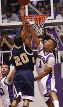 Weber's Damian Lillard tries to stop Montana's Will Bynum.  Weber State University played Montana State Tuesday in the Big Sky Conference semifinals. Photo by Leah Hogsten/ The Salt Lake Tribune Ogden 3/10/09 Weber was defeated by Montana State 70-61.