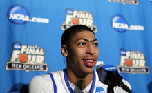 Kentucky forward Anthony Davis will be the No. 1 pick in the  NBA draft Thursday, but after that it could be a free-for-all. (AP Photo/Gerald Herbert)