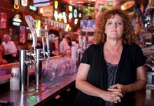 Trent Nelson  |  The Salt Lake Tribune Heidi Harwood, owner of the club Brewskis in Ogden, Utah, Thursday, June 28, 2012. Harwood is appealing a ruling by the Department of Alcoholic Beverage Control. Her bar was ticketed two weeks after a 19-year-old woman pulled over during a traffic stop said she had obtained liquor from Brewski. Agents ticketed the club two weeks later, after the bar destroyed its surveillance tapes and scanner information.