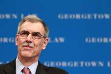 In a photo made March 9, 2012, Solicitor General Donald B. Verrilli Jr., speaks at a Georgetown University Law Center forum in Washington. Obama's top Supreme Court lawyer was maligned for his performance in both the health care and Arizona immigration cases. Turns out, he largely prevailed in both cases, in which he also was in charge of producing the administration's written legal briefs. (AP Photo/Haraz N. Ghanbari)