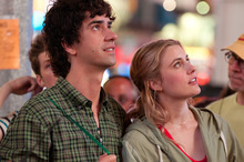 This undated film image released by Fox Searchlight shows Hamish Linklater, left, and Greta Gerwig in a scene from