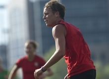 Chris Detrick  |  The Salt Lake Tribune Abby Wambach of the U.S. Women's national soccer team practices at American First Field Thursday June 28, 2012. They will play Canada at Rio Tinto Stadium on Saturday