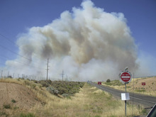 New Harmony wildfire. Courtesy Country District Office