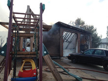 Photo of damage from the Herriman fire taken June 29, 2012. Courtesy image.