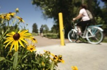 Leah Hogsten  |  The Salt Lake Tribune The Ogden River Parkway is now a popular and refreshing amenity, attracting joggers, bikers and even swimmers and floaters. Utah's Water Advisory Board honored Ogden City with its prestigious Calvin K. Sudweeks award for restoration of a 1.1-mile stretch of the river through the heart of the city's downtown between Washington Boulevard to just below Wall Avenue.