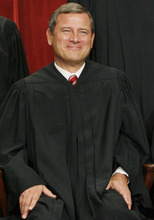 FILE - In a Sept. 29, 2009, file photo Chief Justice John Roberts sits for a new photograph at the Supreme Court in Washington. Roberts, the darling of conservatives, finds himself in the unusual position of being praised by the left and criticized by the right following the health care ruling, and to a lesser extent, the Arizona immigration case in which he also sided with the court's liberals. (AP Photo/Charles Dharapak, File)