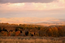 Courtesy photo Sunset on the proposed Strawberry Ranch development in Wasatch County.