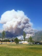 A reader photo of the Quail Fire in Alpine. (Courtesy Jay Nielson)