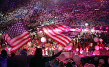 Tribune file photo Thousands of fans and athletes celebrate the end of the 2002 Salt Lake Olympics at the dazzling Closing Ceremony at Rice-Eccles Stadium.