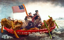 Photo illustration by Francisco Kjolseth  |  The Salt Lake Tribune What's more American than Washington crossing the Delaware and buffalo wings? The two put together.