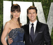 FILE - In this Feb. 26, 2012 file photo, actors Tom Cruise and Katie Holmes arrive at the Vanity Fair Oscar party, in West Hollywood, Calif. Cruise and Homes are calling it quits after five years of marriage. Holmes' attorney Jonathan Wolfe said Friday June 29, 2012 that the couple is divorcing, but called it a private matter for the family. (AP Photo/Evan Agostini, File)