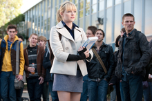 In this film image released by Sony Pictures, Emma Stone is shown in a scene from