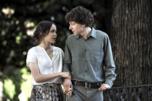 Ellen Page and Jesse Eisenberg form part of a love triangle in Woody Allen's