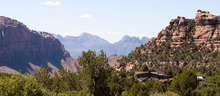 COBB CONDIE/Special to the Tribune  A privately held property currently being run as spiritual retreat overlooks the mountains of Zion National Park.