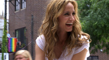 Country singer Chely Wright makes an appearance as Grand Master of the Chicago Gay Pride Parade in 2010, in a moment from the documentary
