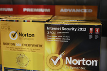 Norton's Internet Security 2012 software for computer security on display at Best Buy in Mountain View, Calif., Friday, July 6, 2012. After repeated alerts, only a few Americans lost their Internet service Monday. The warnings about the Internet problem have been splashed across Facebook and Google. Internet service providers have sent notices, and the FBI set up a special website. (AP file photo)