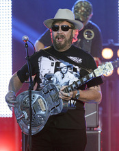 Hank Williams Jr. performs on an outdoor stage during the CMT Music Awards show on Wednesday, June 6, 2012, in Nashville, Tenn. (AP Photo/Mark Humphrey)
