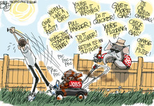 This Pat Bagley editorial cartoon appears in The Salt Lake Tribune on Wednesday, July 11, 2012.