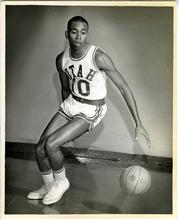 Tribune File Photo Mervin Jackson in University of Utah basketball uniform. Feb. 5, 1968