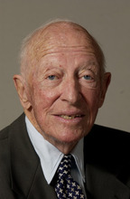 This Sept. 15, 2003 photo shows Richard B. Scudder, co-founder and former chairman of MediaNews Group Inc. Scudder died Wednesday, July 11, 2012 at his home in Atlantic Highlands, N.J. He was 99. William Dean Singleton, the other founder of Denver-based MediaNews and former chairman of The Associated Press, confirmed the death. (AP Photo/The Denver Post, Craig F. Walker)