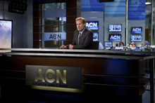 Courtesy photo Anchorman Will McAvoy (Jeff Daniels)  on the set of his cable news show in